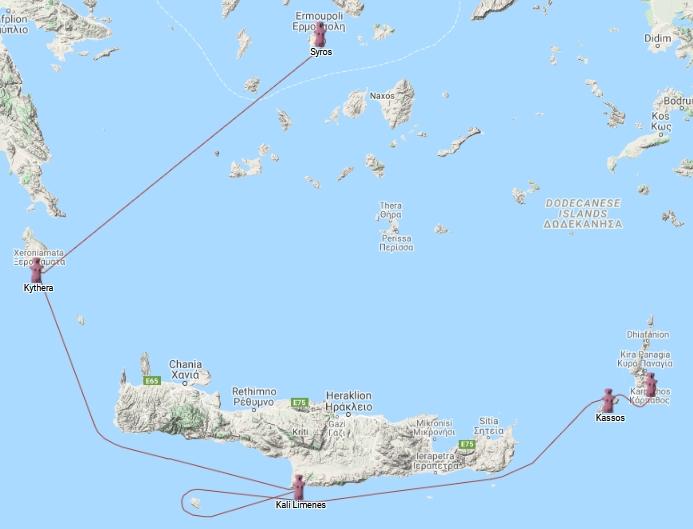Crete to Syros