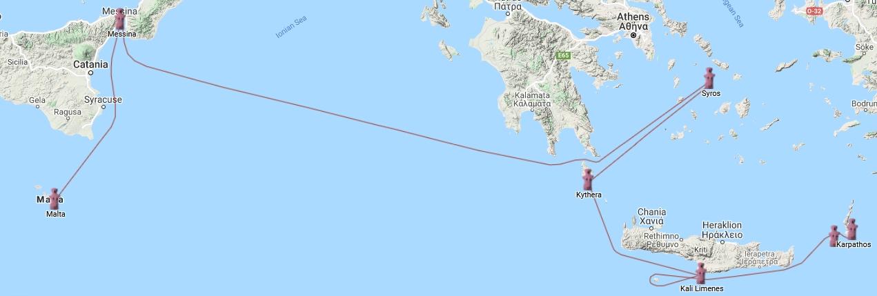 Syros to Malta